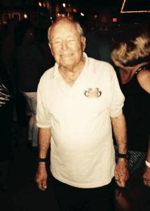 93 year old Len Gardner at Fat Harold's