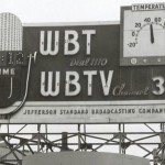 This sign was at the intersection of Trade and Tryon during the mid 1950s.