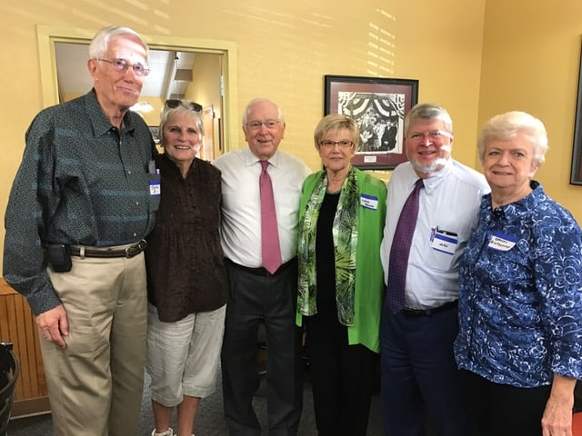 "John Edgerton, Paulette Wright, Jim Babb, Linda Murphy, John Hutchinson, and Carolyn Biltcliff.  Here's a true story: Grady Cole was the morning man on WBT from about 1930 to 1961 when Ty Boyd took over. Jim Babb started out in radio sales in 1956 and became President in 1987. About 1960, Grady's string was running out. Babb was trying to sell this ""great powerful voice of the Carolinas"" to agencies in NYC and buy national spots on the colossus of the South. Those Yankees thought Grady was too country and told Babb to take a hike. So Jim comes back to President Crutchfield and his staff and declared the party over...Grady has got to go. Grady Cole was so popular in the Carolinas he could have been elected Governor in both states! Now it was time to find a young, motivated, handsome, hip personality and who was it? Half of the Odd Couple -- Mr. Ty Boyd from WCHL in Chapel Hill. In 1961, Ty said the WBT call letters for the first time and did it for 13 more years. Charlotte only had 3 radio stations that mattered and he fought it ought with Jack Gayle on Big WAYS and Jack Knight on WSOC."